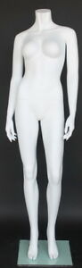 5 Ft 4 In H Female Headless Mannequin Matte White New Style Mannequin Stw105wt