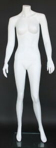 5 Ft 6 In H Female Headless Mannequin Matte White New Style Mannequin Stw109wt