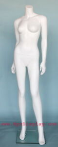 5 Ft 4 In H Female Headless Mannequin Matte White New Style Mannequin Stw118wt