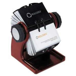Rolodex Wood Tones Open Rotary Business Card File Holds 400 2 5 030402323247