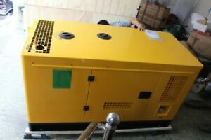 New 20kw 1 Phase Diesel Powered Generator With Waterproof Enclosure Ship By Sea
