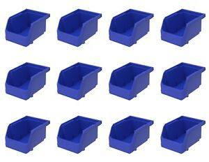 12 Pack 7 3 8 X 4 1 8 X 3 Plastic Inventory Storage Stacking Shelf Parts Bins