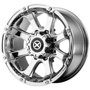 4 New 16 Inch 16x8 Atx Ax188 Ledge 8x165 1 8x6 5 0mm Pvd Chrome Wheels Rims