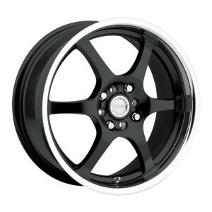 4 New 14 Inch Raceline 126 14x5 5 5x100 5x114 3 5x4 5 35mm Black Wheels Rims