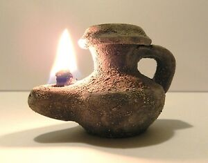Biblical Oil Lamp Holy Land Ancient Jerusalem Roman Herodian Clay Pottery Menor