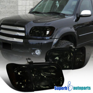 For 2005 2006 Toyota Tundra Sequoia Smoke Headlight Corner Lamps L R