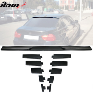 Universal Fitment Rear Roof Spoiler Lid Wing Adjustable Carbon Fiber Print