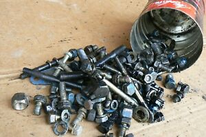 Ford 1710 Tractor Bolt Lot Mostly Engine Bolts
