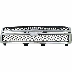 Grille For 2011 2014 Chevrolet Silverado 2500 Hd Without Emblem Provision