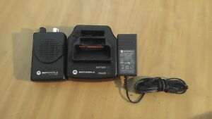 Used Motorola Minitor Model V Pager W Charger Battery knob Repair 47 1250