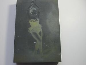 Vintage Printers Print Press Block Of A Ballerina