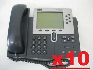 Lot Of 10 Cisco Unified Ip Phone Model 7960 Business Telephone Cp 7960g