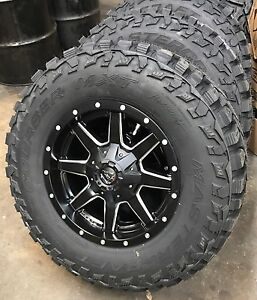 5 17 D538 Fuel Maverick Wheels Jeep Wrangler Jk Jl Tj 33 Mt Tires Package