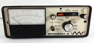 Vintage Helper Instruments Sinadder 3 Model S103 Db Sinad Voltmeter