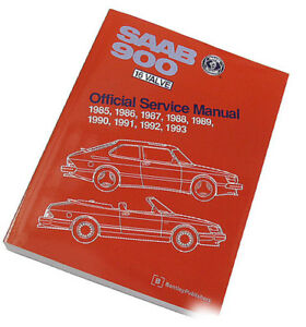 Service Repair Manual Turbo Spg Convertible 16v Bentley For Saab 900 900s 85 93