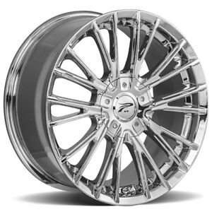 4 New 16 Inch Platinum 437c Genesis 16x7 5x112 5x120 40mm Chrome Wheels Rims
