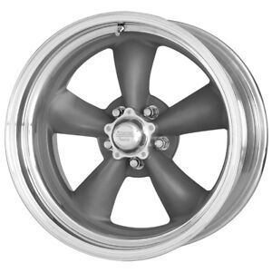 4 14 Inch 14x6 American Racing Vn215 Torq Thrust Ii 5x4 75 2 Gray Wheels Rims