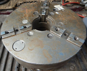 Older Cushman 12 3 Jaw Metal Lathe Chuck With D1 6 Mount Machinist Tooling