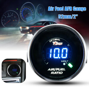 2 52mm Car Air Fuel Ratio Afr Volt Blue Digital Led Combo Gauge Universal Us