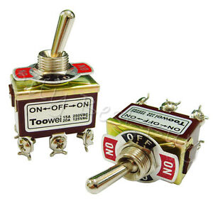 20 On off on T702cw Dpdt Toggle Switch 15a 250vac 20a 125vac Heavy Duty Latching