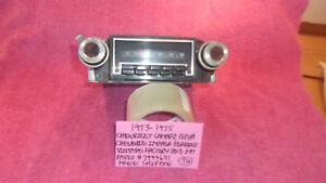 1973 1975 Camaro Nova Chevelle Genuine Vintage Gm Radio 7933641 Free Shipping