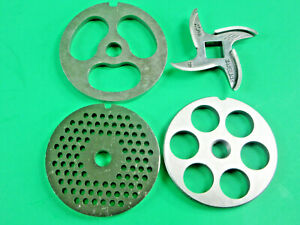 Size 8 Set Of Meat Grinder Disc Plate Knife Stainless Steel Lem Cabelas Etc