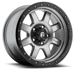 4 New 18 Inch Fuel D552 Trophy 18x9 5x127 5x5 1mm Anthracite Wheels Rims
