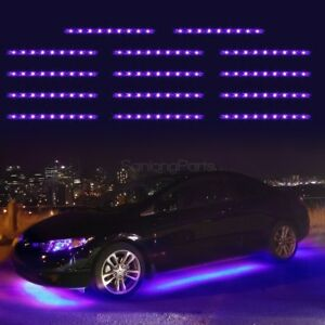 14pcs Purple 3528smd Under Car Glow Underbody Undercar Led Strip Lighting Kit