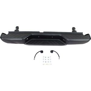 Step Bumper 05 12 For Nissan Frontier Black Steel W Bracket pad Fleet Styleside