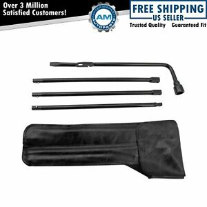 Spare Tire Lug Wrench Jack Tool Kit For Chevy Gmc Cadillac Pickup Truck Suv