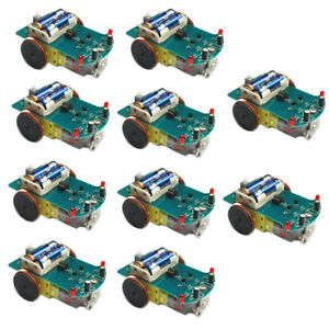 10pcs D2 1 Intelligent Tracking Smart Car Robot Diy Kits W Tt Motor Wheel Lot
