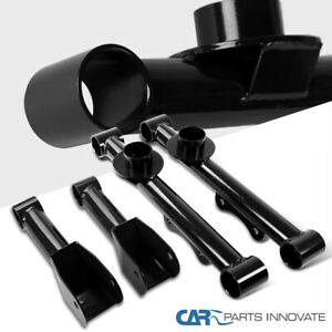For 79 04 Mustang Black Carbon Rear Upper Lower Tubular Control Arms Spec d