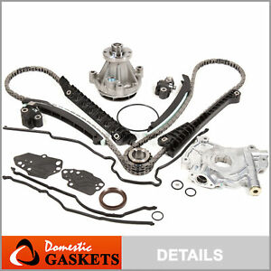 04 08 Ford F150 Lincoln 5 4l 3v Timing Chain Kit W Oil water Pump cover Gasket