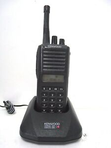 Kenwood Tk 380 Uhf Fm Transceiver Two Way Radio Battery Charger Ksc 24