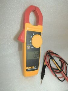 Clamp Meter With Fluke Leads Fluke 323 True Rms Electricians Very Nice