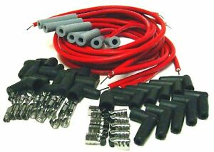 Vulcan Extreme 8 5mm Silicone Universal Race Straight Spark Plug Wire Set 8 Cyl
