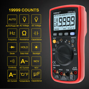 Tool An870 19999 Counts True rms Range Digital Multimeter Ac dc Voltage Meter
