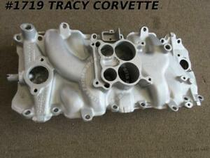 1969 Corvette 3947801 Low Rise Bbc Alum Intake Manifold Oval Port Date Choice