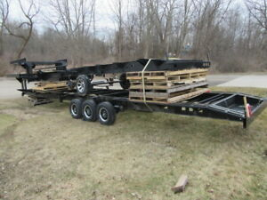 Flat Bed 5th Wheel Rv Steel Trailer 24k Tri Axle Tiny Home Concession Haul Frame