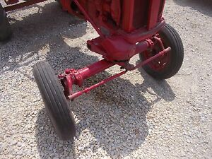 Farmall Ih Cub Tractor 4 00 X 12 Front Tires Tubes On Ih Repainted Rim To Use