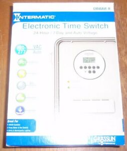 Intermatic gm40ave r Electronic Timer 24 Hr 7 Days dpdt new