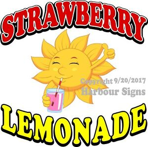 Strawberry Lemonade Decal choose Your Size Cold Drinks Food Concession Sticker