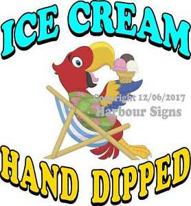 Ice Cream Hand Dipped Decal choose Your Size Food Truck Concession Sticker