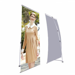 2pcs 32x83 Banner Stand Roll Up Rack Wedding Carnival Trade Show Fair Display