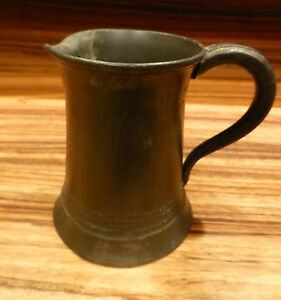 Superb Antique English Pewter Mug Marked 4 Minor Issues Y8 W6 A9