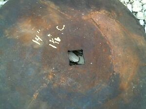 Ih Farmall Plow 14 Rolling Rollin Cutter Wheel Disc Disk 1 Sq Center Hole