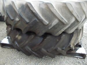 15 5 X 38 Vint Firestone Tires 25 Farmall Ih Tractor 9 Bolt Press Steel Rims