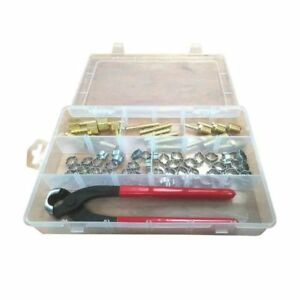 H11fk Air Hose Repair Kit With Double Ear Clamps Crimper 1 4 Hose Barbs