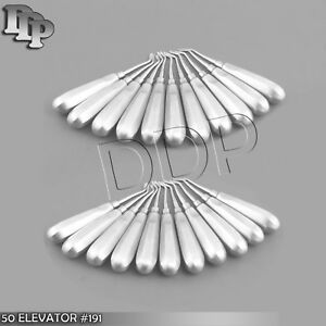 50 Dental Tooth Surgery Right Flat Pointed Elevator 191 Dental Instruments