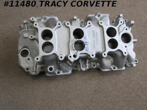 1967 Corvette Used 3894374 427 435 Tri Power 3 X 2 Intake Manifold Date 10 14 66
